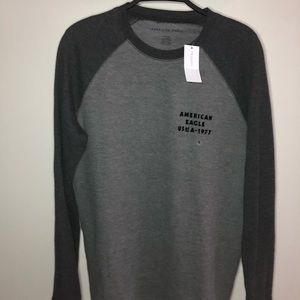 American Eagle Standard Fit Grey Long sleeve Small